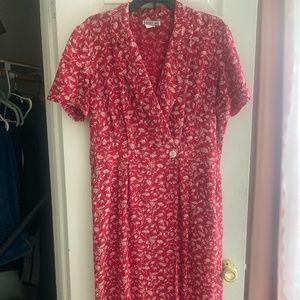 Vintage Red Wrap Dress